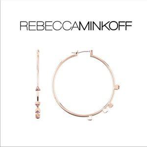 Rebecca Minkoff Floating Triangle Hoop Earrings